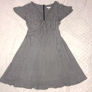 Medium Blue & White Gingham Sundress Xhilaration